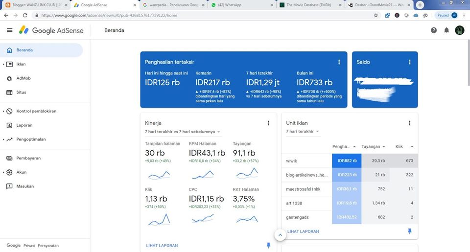 Seorang Publisher Google Indonesia Dari Rp 100, Sekarang Rp 100.000/hari Hanya dari Blog