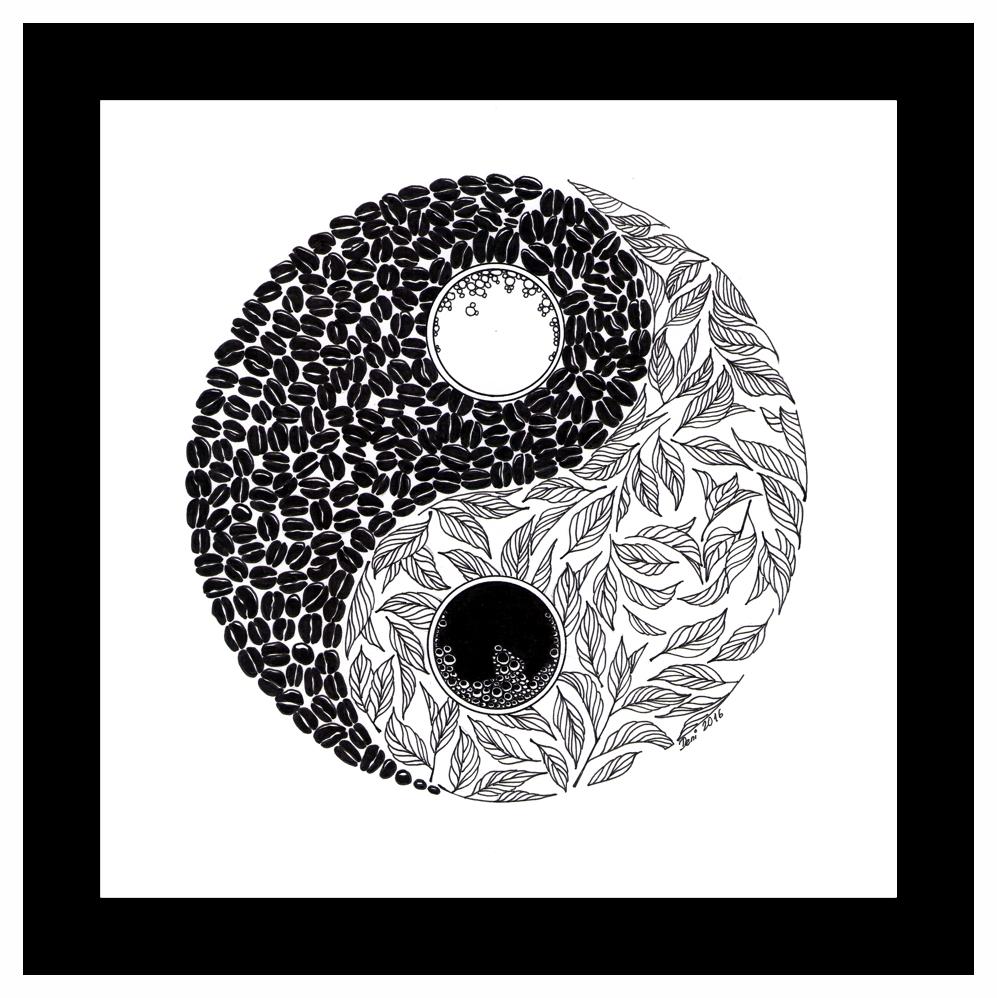 rysunek yin yang