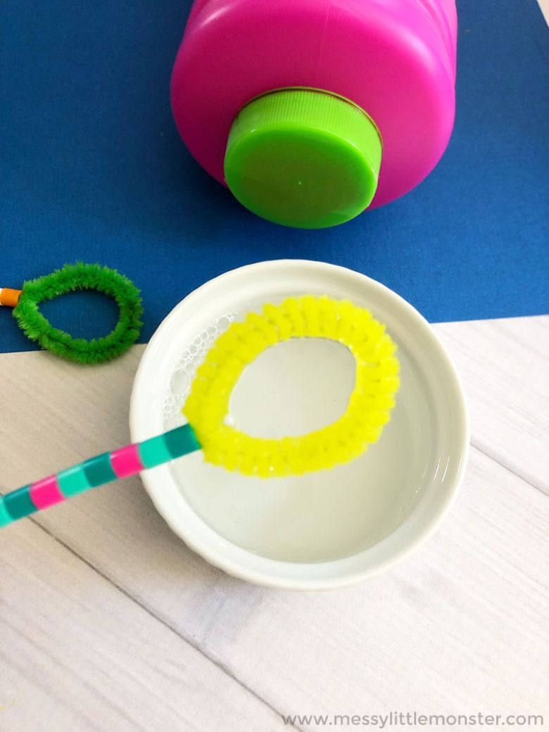 Homemade bubble wands - Spring activities for kids