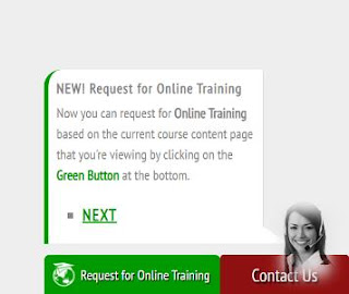 Online Training Request - First Contact