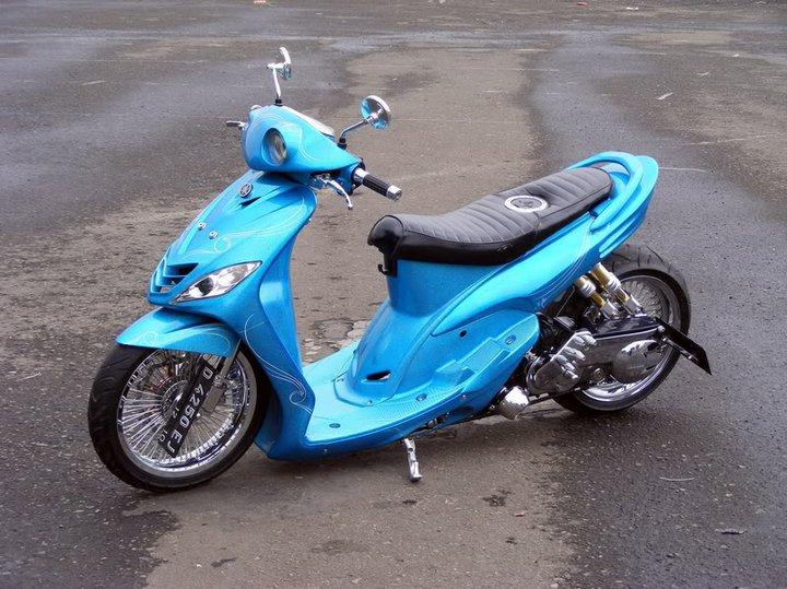 modifikasi motor mio 2008  tahun ini