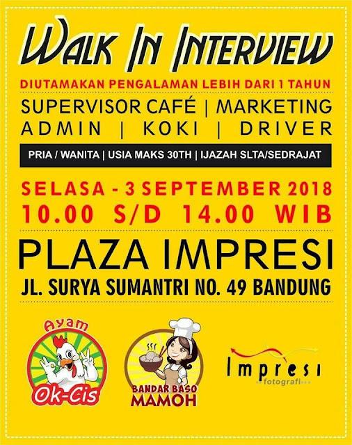 Lowongan Kerja Plaza Impresi Bandung