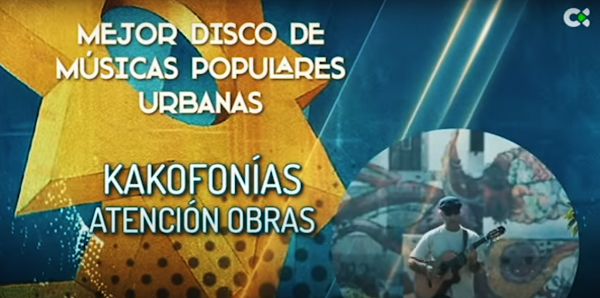 premio mejor disco de musicas urbanas de Canarias