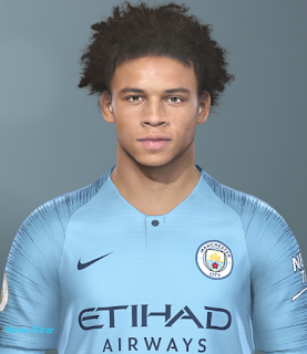 PES 2019 Faces Leroy Sané by Hugimen