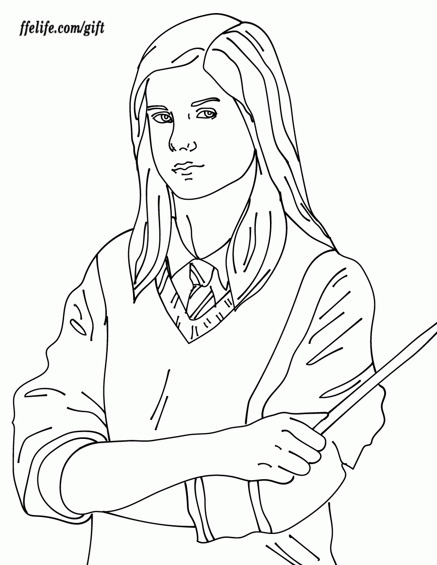 Ginny Weasley Harry Potter Ausmalbilder Ginny