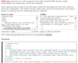 Cara Posting Source Code di Blogspot