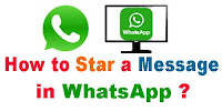How to Star/Unstar a Message in WhatsApp?