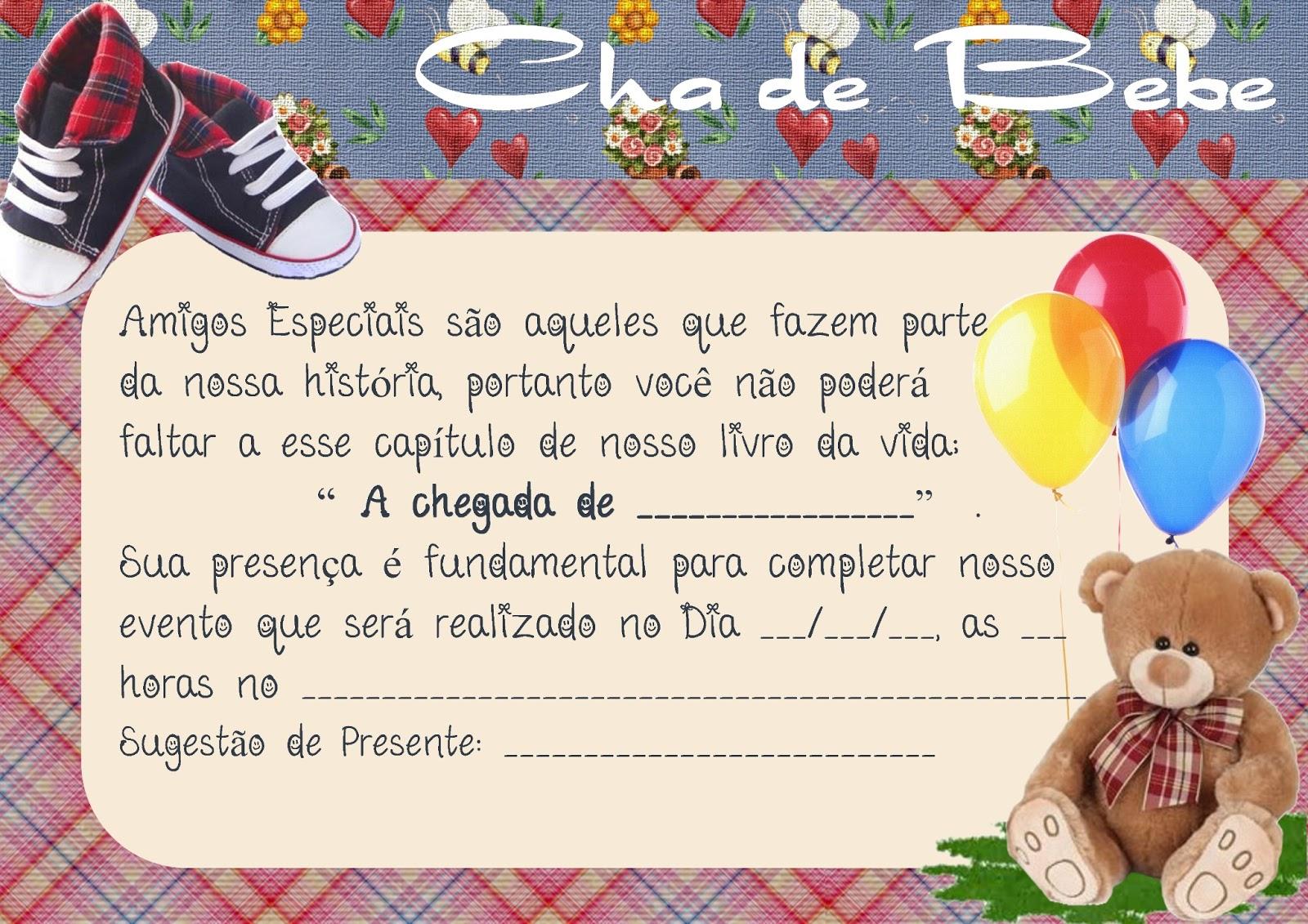 Mensagem De Convite De Cha De Fralda: Kaxa Da Arte: CONVITE CHÁ DE BEBE / CHA DE FRALDA