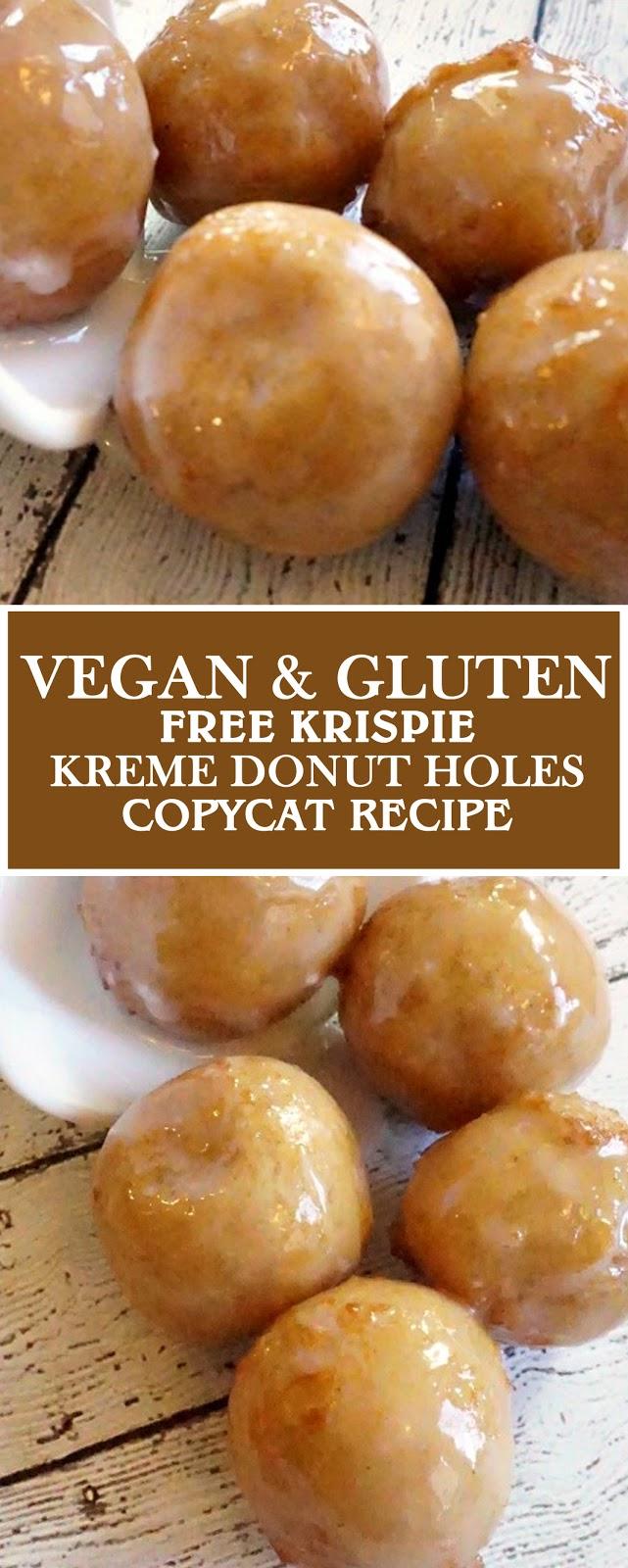 Vegan & Gluten-Free Krispie Kreme Donut Holes Copycat Recipe