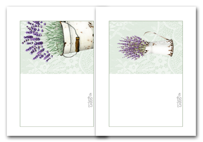 Lavender Greeting Cards
