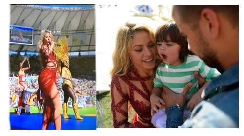 Shakira encabezó la ceremonia