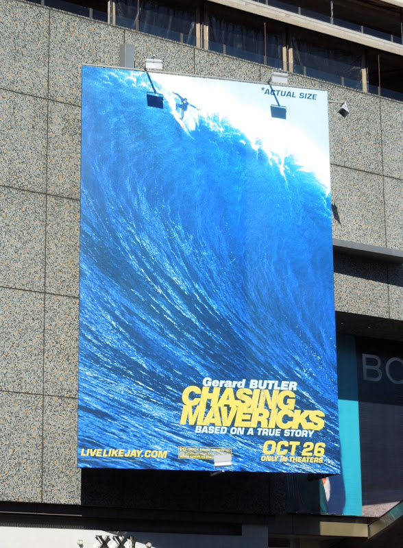 Chasing Mavericks movie billboard