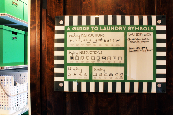 Laundry Simple Guide Behind Glass Memo Board