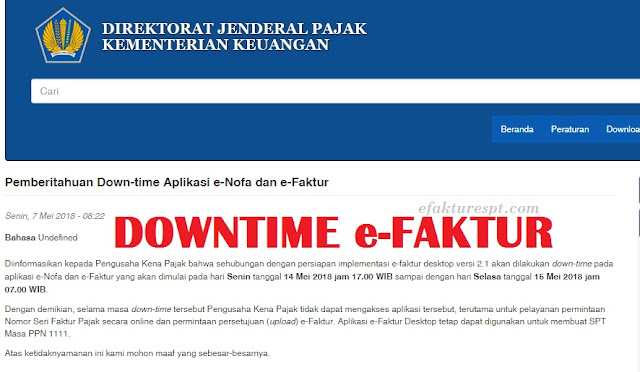 Cara Cek Server e-Faktur Offline atau Normal