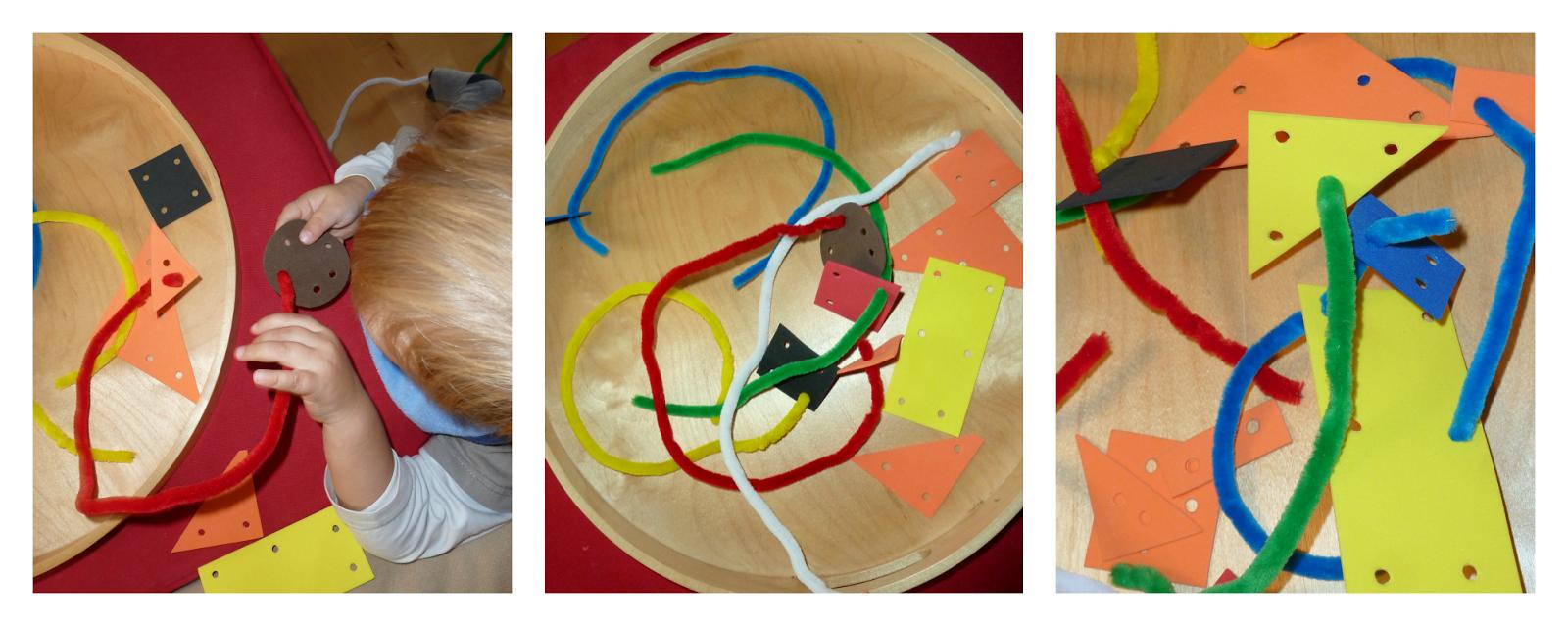 pretikanka - fina motorika za malčke  - penasta guma in kosmate žičke