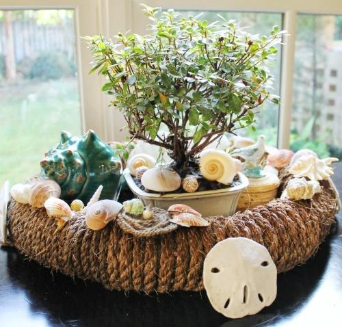 Nautical rope wreaths coastal decor ideas and interior design inspiration images - Nautical rope decorating ideas ...