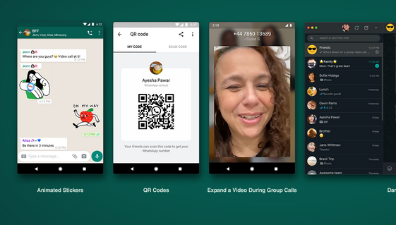 WhatsApp Latest Features: Contact adding, Animated Stickers, Dark mode for web