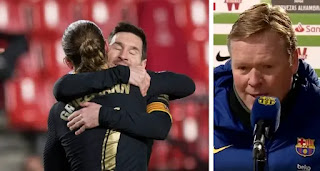 Koeman explains subbing off Messi in Granada win: we need him to achieve great things and win titles.