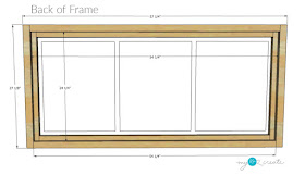 Dimensions for back of picture frame