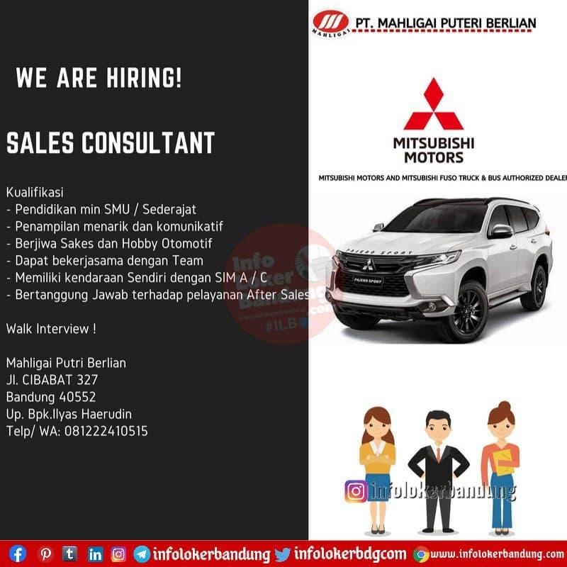 Lowongan Kerja PT. Mahligai Puteri Berlian (Mitsubishi Motors) Cibabat Bandung Februari 2021