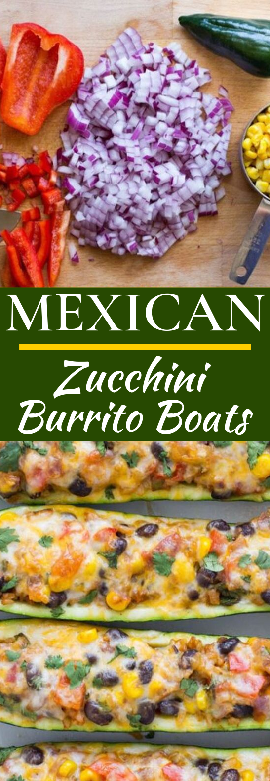 Mexican Zucchini Burrito Boats #vegetarian #appetizers