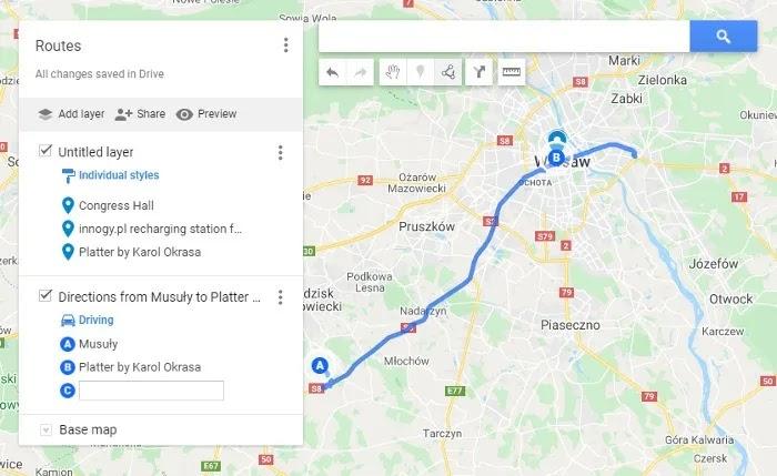 كيفية حفظ المسار على خرائط جوجل خرائطي