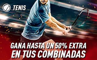 sportium Tenis: Extra en Combinadas 4-10 noviembre 2019