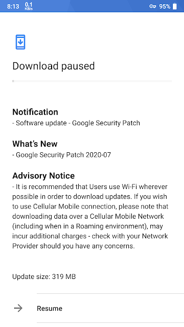 Nokia 6 receiving July 2020 Android Security patch