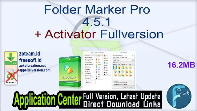 Folder Marker Pro 4.5.1 + Activator Fullversion
