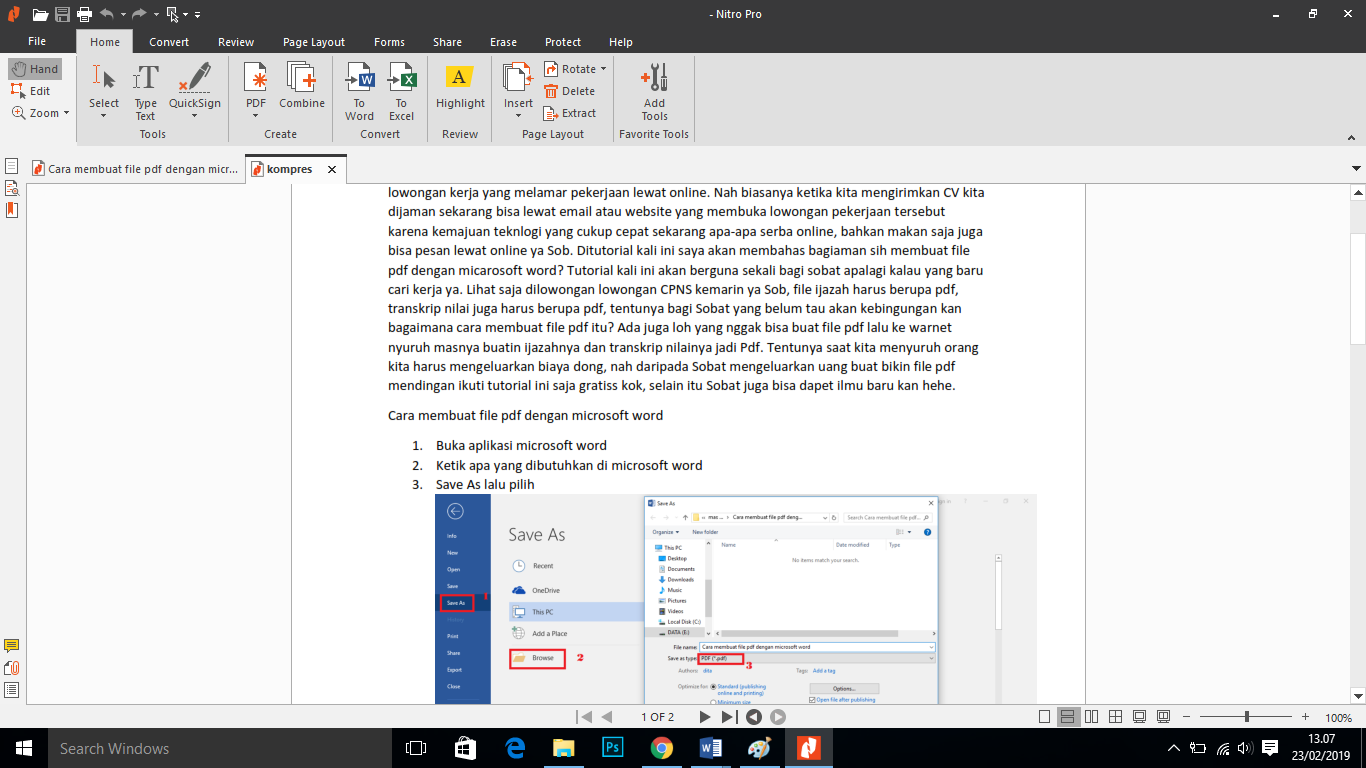 Ukuran file mengecilkan pdf cara