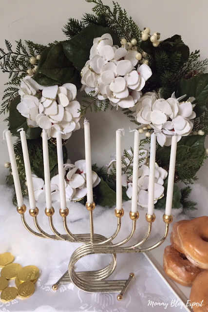 Chanukah Wreath Centerpiece Idea