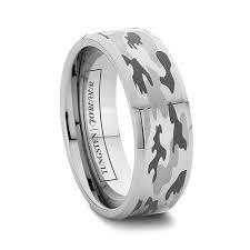 Tungsten Camo Wedding Rings