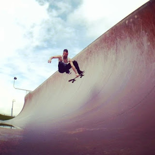 Mark Jansen Skateboarding Adelaide West Beach Halfpipe