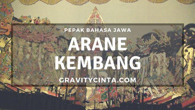 Arane Kembang dalam Bahasa Jawa