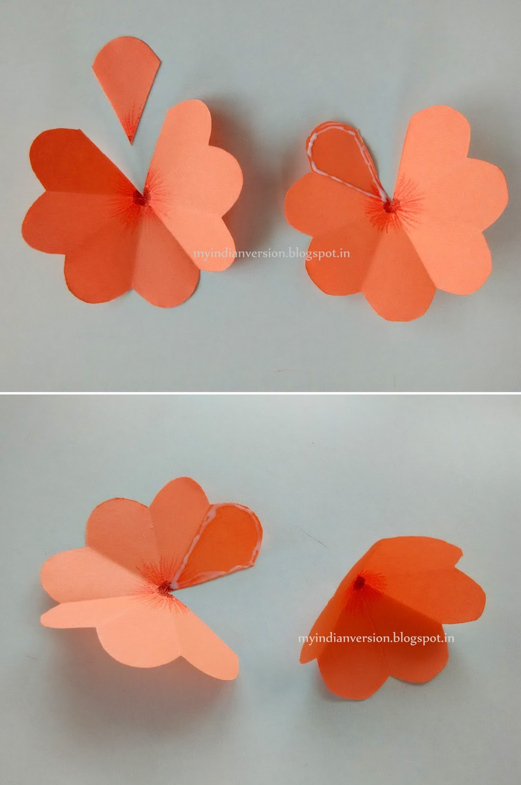 Easy Up Do On Stretched Natural Hair: My Indian Version: DIY Easy POP UP Card : Photo Tutorial