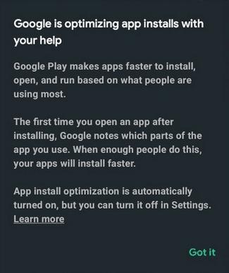 App install optimization