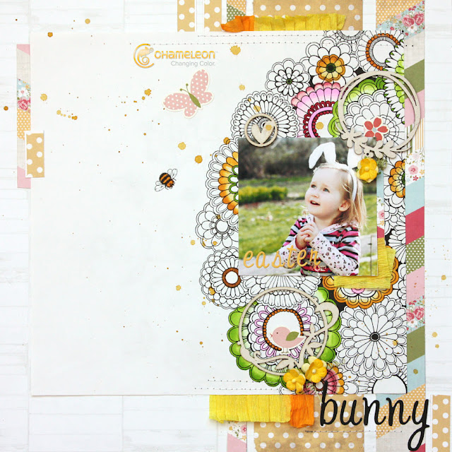 Easter Themed Scrapbooking Layout