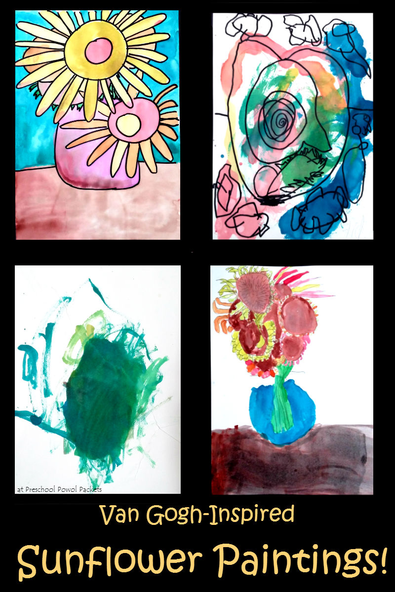 Van Gogh Inspired Sunflowers Art Project Preschool Powol