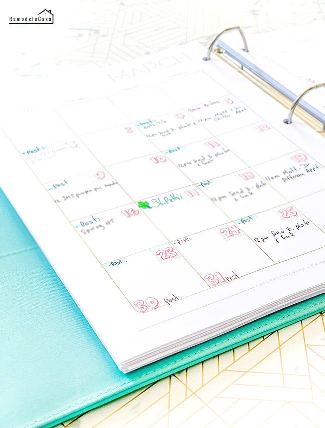 The Crafting Nook Blogging Planner