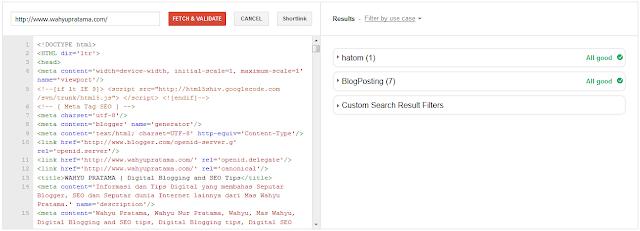 Mengatasi Error Image, Publisher, DateModified, MainEntityOfPage pada Struktur Data Blog Terbaru
