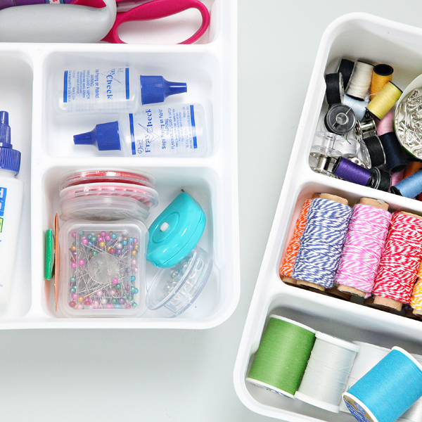 As we have been transforming our laundry room I realized that I want to be really selective about how we utilize and store all of our essentials.  sc 1 st  IHeart Organizing & IHeart Organizing: A Surprising Solution for Smaller Sewing Supplies