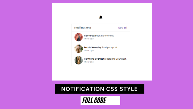 notification css style | html top bar slide down notification css
