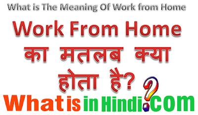 Work from Home का मतलब क्या होता है