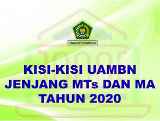 Kisi-kisi UAMBN Jenjang MTs dan MA Tahun 2020