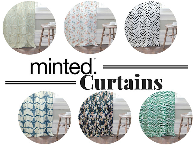 Minted compilation post- sharing my favorite Minted curtains and how to hang them