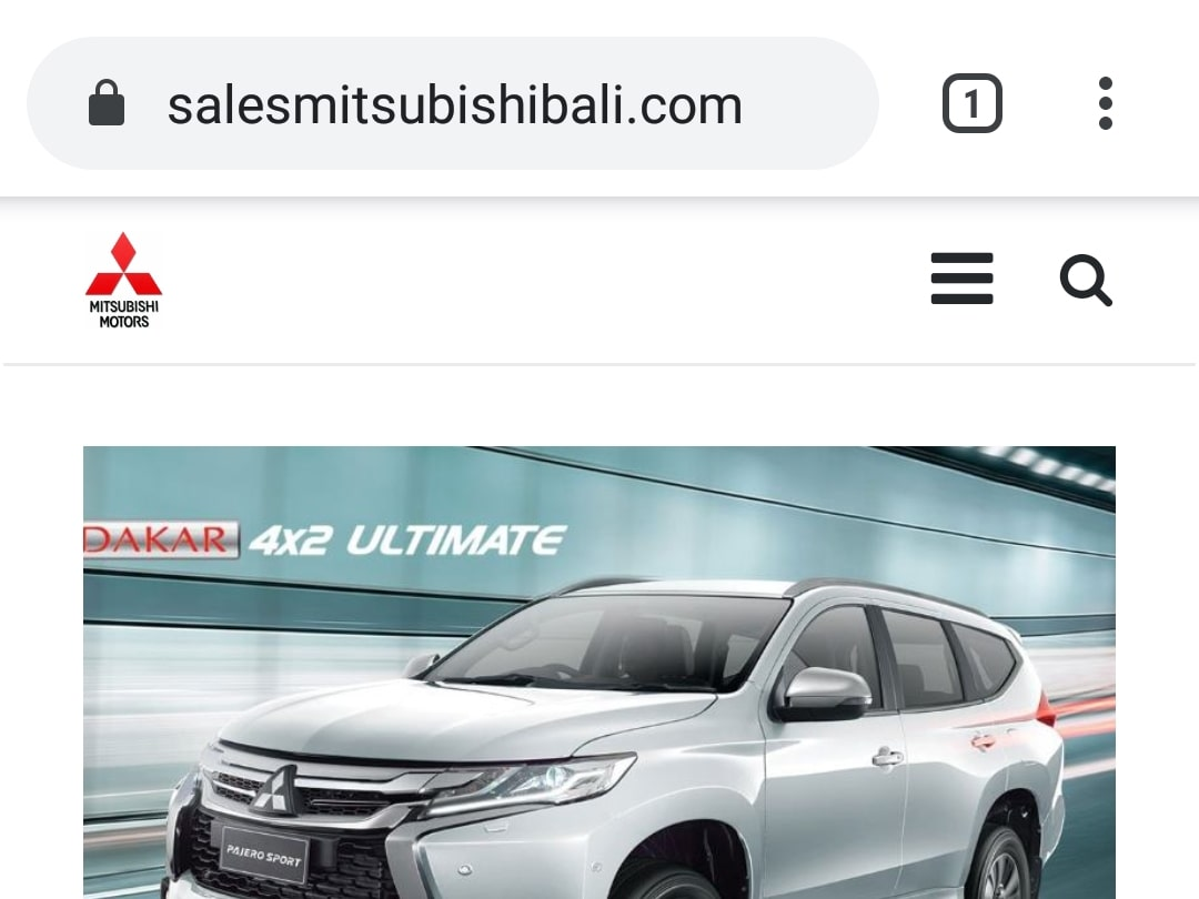 Website Mitsubishi Bali By Bayu-Media Web & Ads