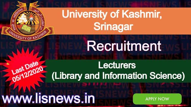 Lecturers at University of Kashmir, Srinagar