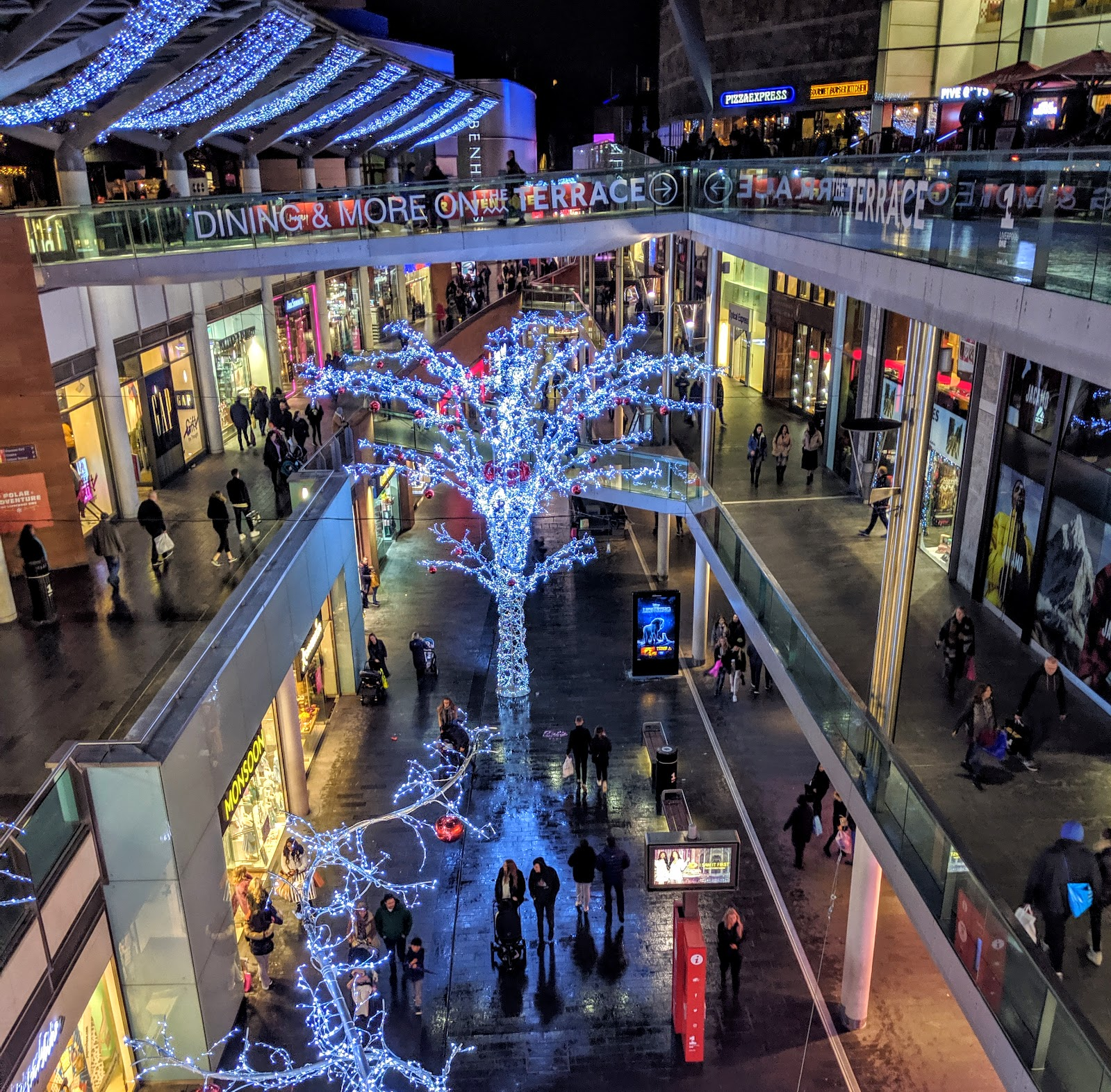 A Guide to Visiting Liverpool Christmas Markets & Lights  - Liverpool One Christmas Decorations