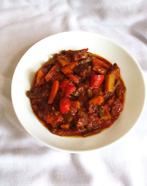 Vegetables in a Spicy Tomato Ethiopian Kulet Sauce