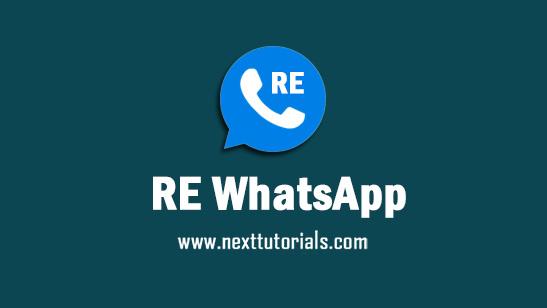 RE WhatsApp v8.95 Apk Mod Latest Version Anti Banned,Install Aplikasi REWhatsApp Versi Terbaru 2021,tema re wa anti blokir,download wa mod terbaik 2021